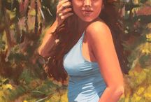 Fine art by Monica Batiste / Fine art that I've painted of friends and studies. Oil paint on canvas.