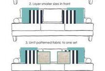 cojines en sofá