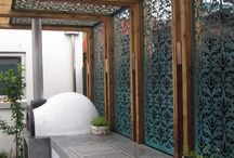 Decorative partitions outdoor