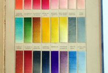 Colour systems, wheels, charts and posters