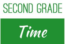 Second Grade: Time / This board contains resources for Texas TEKS: 2.9G -  read and write time to the nearest one-minute increment using analog and digital clocks and distinguish between a.m. and p.m.