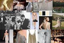 """Great Gatsby Style Revival - dámy / Milé svatebčanky, nebojte se toho! Chce to jen oprášit šaty se sníženým pásem, empírovým střihem či V výstřihem v barvách svatby (nebo podobných) a k tomu pár """"dobových"""" drobností: dlouhé korále, rukavičky, malá """"glitter"""" kabelka, taneční boty, vzorované punčochy, boa či krajkové bolerko, malý klobouček či zdobných hřeben do vlasů.   Určitě něco naleznete doma nebo pořídíte za pár korun ve vintage buticích (tipy na Prahu mám!).  Tak hurá do toho, popusťte fantazii uzdu!"""