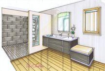dessin décoration d'intérieur