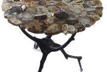 Table semiprecious stone brass legs / Luxury table ,