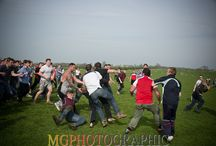 Bottle kicking between Hallaton & Medbourne 21st April 2014 / A very traditional game of bottle kicking and hare pie throwing between the villages of Hallaton and Medbourne