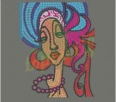 Afro Girl Rhinestone Designs / Afro Girl Rhinestone Designs