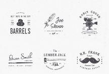 vintage logo wood