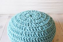 Crochet - pillows, poufs