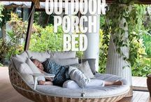 Outdoor living / Verandah & patio ideas, storage & decor