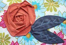 kwiaty z tkaniny