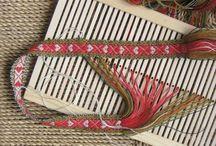 Grindvev - Rigid heddle loom / Grindvevsband, båndvev,  bånd til bunad, rigid heddle loom woven bands