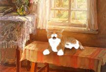 Maler und Katzen