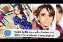 Natalia Téllez excede los límites ¡con desvergonzada blusa transparente!