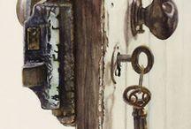 Decoupage ajtók, kapuk
