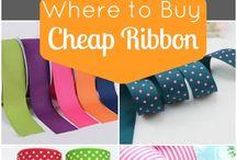 cheap ribbon stores