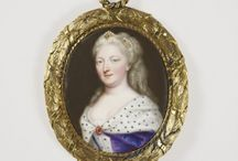 Queen Caroline / Portaits of Queen Caroline of Great Britain, wife of King George II, born Wilhelmina Charlotte Caroline Princess of Brandenburg-Ansbach (1683-1737)