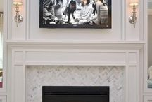 mantle + fireplace