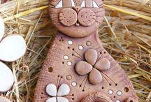 животные из глины