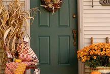 Porch decorating / by Tim N Tina Bobrowski