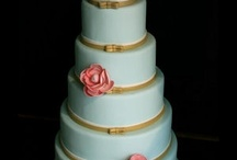 "Yum (Wedding Cakes) / Too pretty to eat?  Here's a myriad of gorgeous confections; most are colored.  For white cakes, see my board ""White Wedding Cakes.""   / by Kate Jeter"