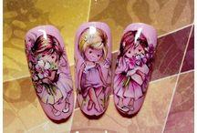 детки на ногтях