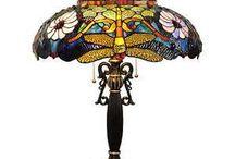 Tiffany glass & lamper