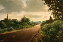 landscape paintings and photos