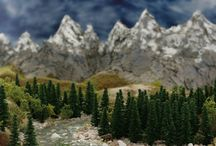 Forest Mountain diorama