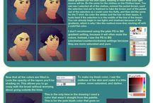 Digital illustration tutorials