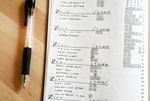 Bullet Journal Cleaning Logs