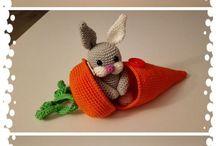 Crochet carrot & rabbit