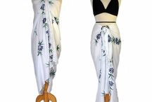 Black & White / Pair a monochromatic sarong with a colored swimsuit for a great new look!