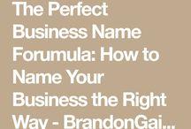 Bedrijfsnamen bedenken