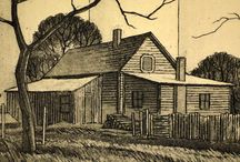 "Exhibit | ""Country: Prints by Charles Capps and Tom Huck"" / At the Mulvane from March 27 - May 16th 2015"