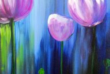 acrylic paints / by Judy St. Helen-Weninger