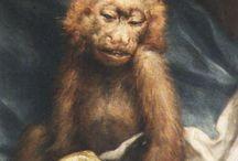monkeys in art