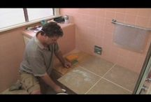 cleaning glass shower doors and tub