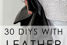 Leather diy how to guides / Projects and tips on designing & making leather goods