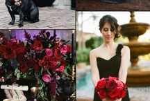 Black and red wedding colours