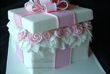 gift wrapped whimsy cake