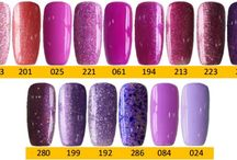 Q1T Professional UV nail polish- Violet shades