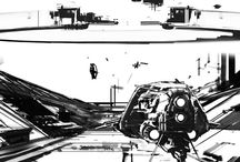 Sci-Fi Black-n-White Drawings