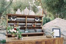 Bar, candy bar, wiejski stół