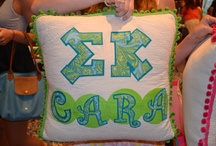 Sigma Kappa Crafts! / Here are some of my favorite SK crafting ideas: sorority pillows, paddles, and my cutest little baskets! / by Maddie Preib