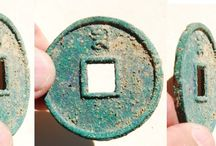 Yuan (元) Dynasty (or Mongol) Coins / This board contains photos of authentic Mongolian coins as well as coins cast by rebels of the cast during the Yuan Dynasty from 1279-1368 AD. / by Danny