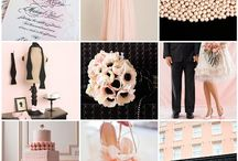 Chic Pink, Black and Grey Wedding
