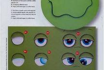 рисуем глаза и лицо