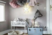Baby / kids bedroom / playroom / Inspiration and ideas to make a cool, Nice and harmonical bedroom for your kid / baby to play / sleep in :)