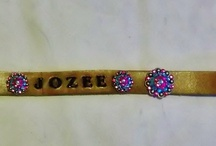 Western Bling Dog Collars / Cute western dog collars for your favorite pampered pooch. You tell us how you'd like it designed, we'll create it.  / by Pampered Cowgirl