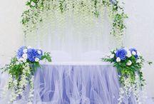 глициния в декоре свадьбы